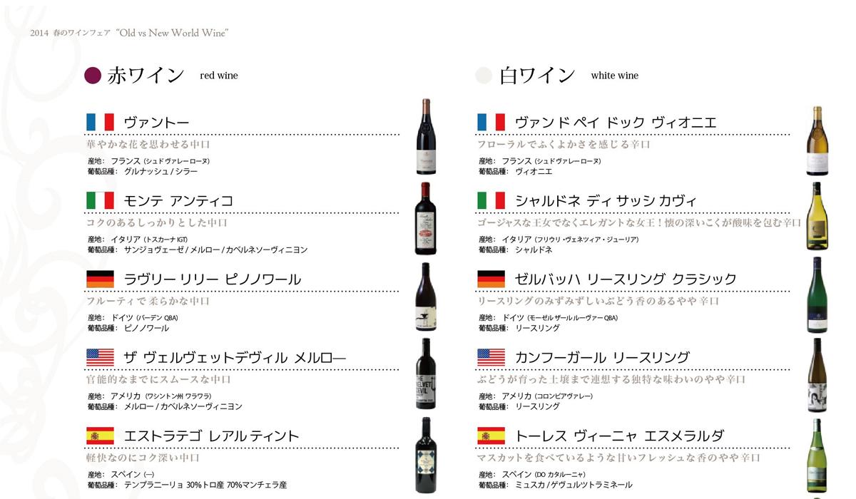 カレンダー カレンダー 2014年 : ワインフェアリスト(クリック ...